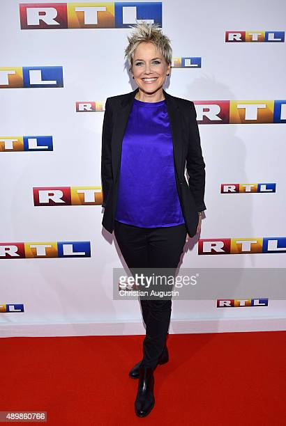 Inka Bause attends RTL Program Presentation and premiere of TV Production 'Deutschland 83' at Curiohaus on September 24 2015 in Hamburg Germany