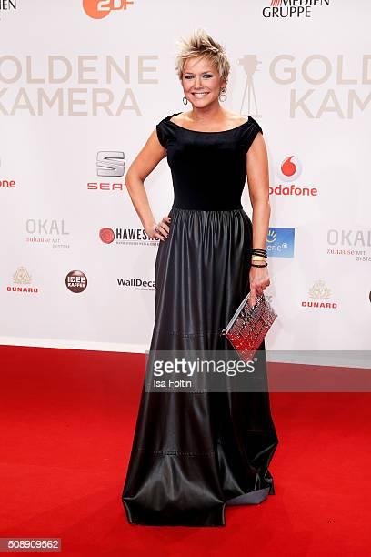 Inka Bause attends the Goldene Kamera 2016 on February 6 2016 in Hamburg Germany