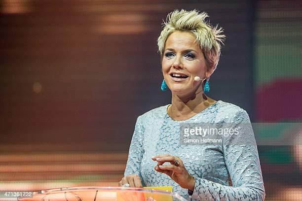 Inka Bause attends the Radio Regebenbogen Award Show 2015 at Europapark on April 24 2015 in Rust Germany