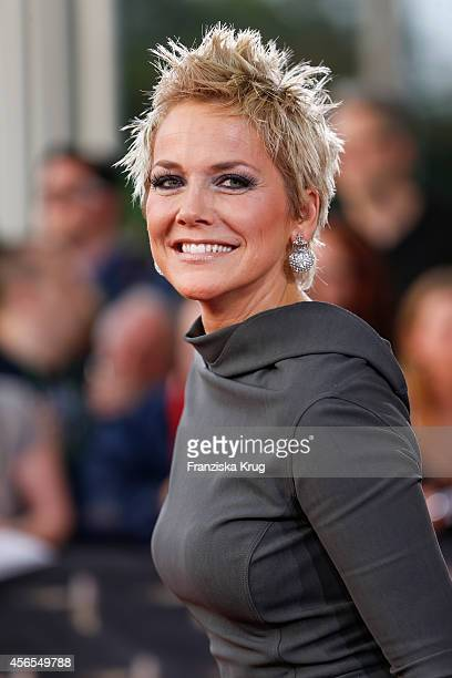 Inka Bause attends the red carpet of the Deutscher Fernsehpreis 2014 on October 02 2014 in Cologne Germany