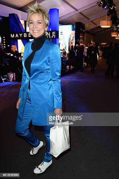 Inka Bause attends the Riani show during the MercedesBenz Fashion Week Berlin Autumn/Winter 2015/16 at Brandenburg Gate on January 20 2015 in Berlin...