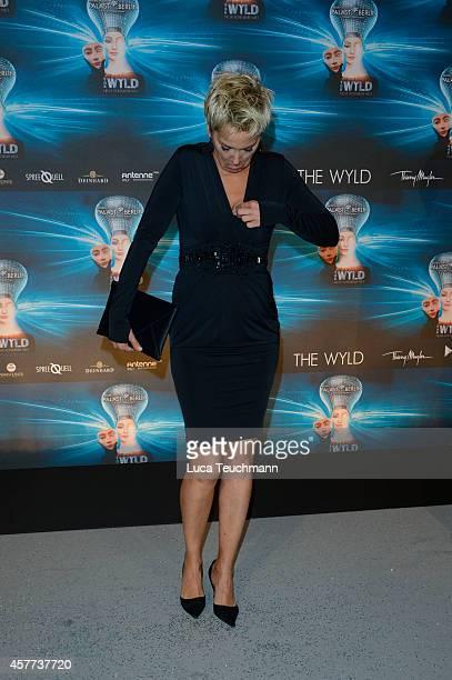 Inka Bause attends 'The Wyld Nicht von dieser Welt' Premiere at FriedrichstadtPalast on October 23 2014 in Berlin Germany