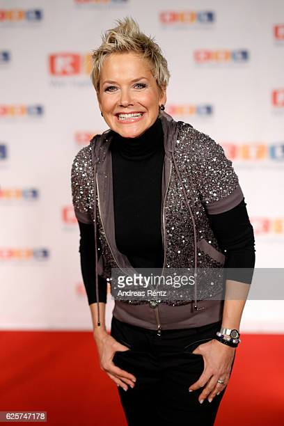 Inka Bause is seen in the studio of the RTL Telethon TV show on November 25 2016 in Cologne Germany The telethon is held every year and is on air for...