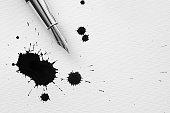Inkblots and pen