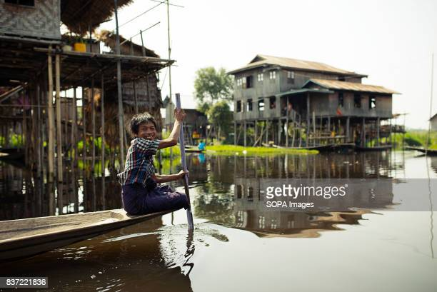 Inle Lake is famous for its floating agriculture and its villages built on wooden poles in the water
