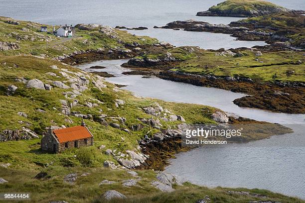 Inlet and cottage, Rodel, Isle of Harris