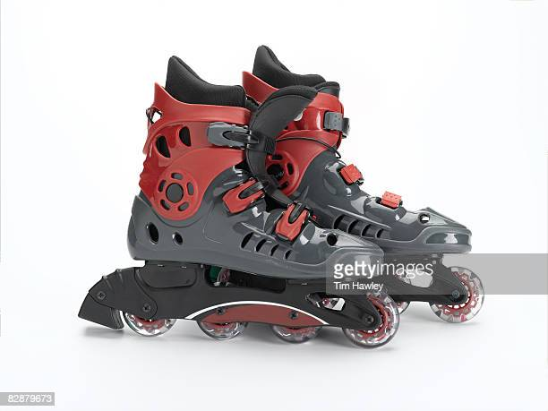 Inline skates on white background