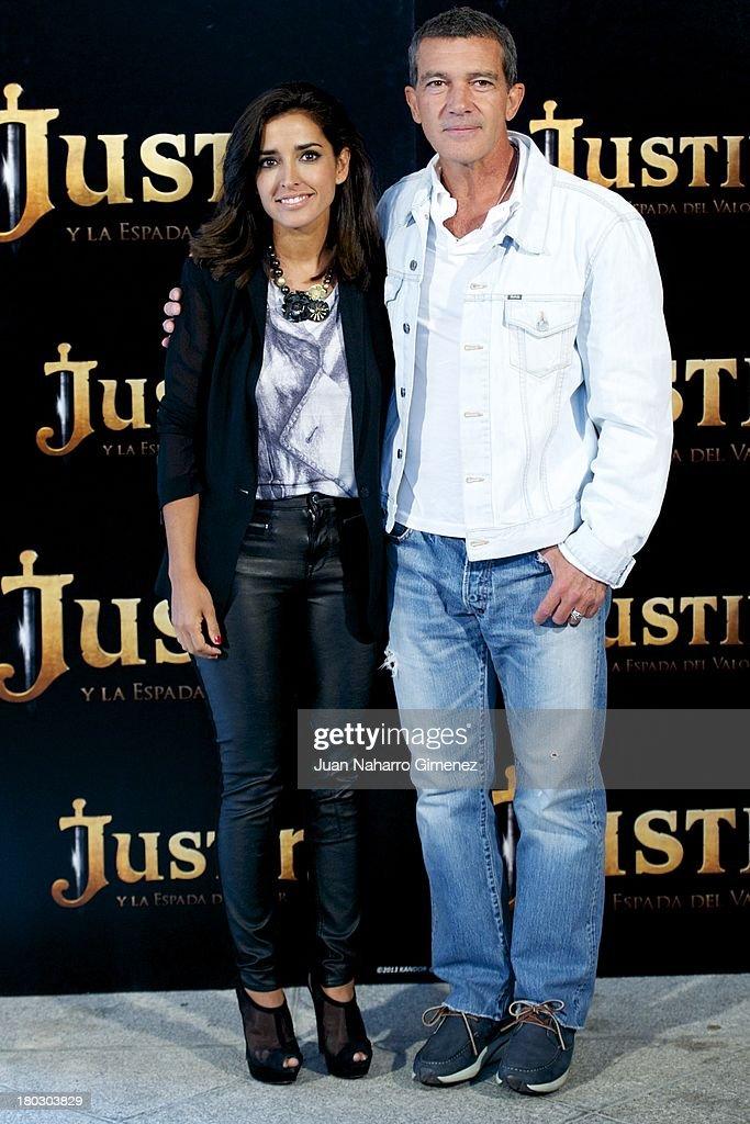 Inma Cuesta and Antonio Banderas attend 'Justin And The Knights Of Valour' (Justin Y La Espada Del Valor) photocall at Castle of Villaviciosa de Odon on September 11, 2013 in Villaviciosa de Odon, Spain.