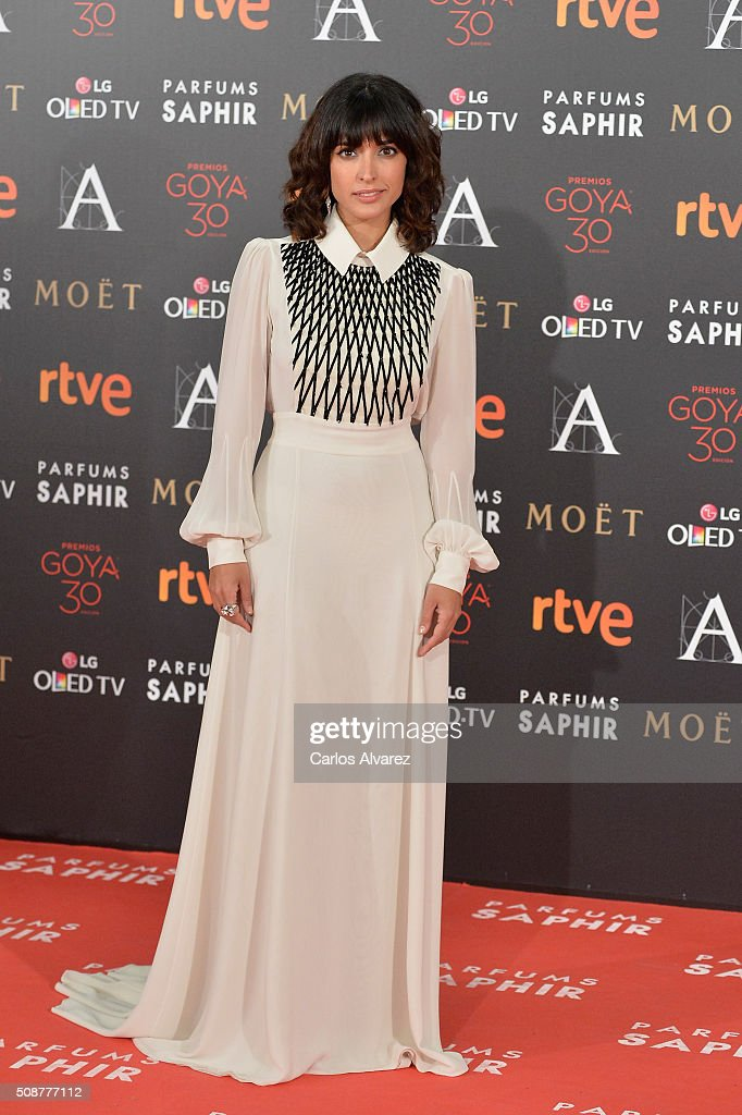 Inma Cuesta attends Goya Cinema Awards 2016 at Madrid Marriott Auditorium on February 6, 2016 in Madrid, Spain.