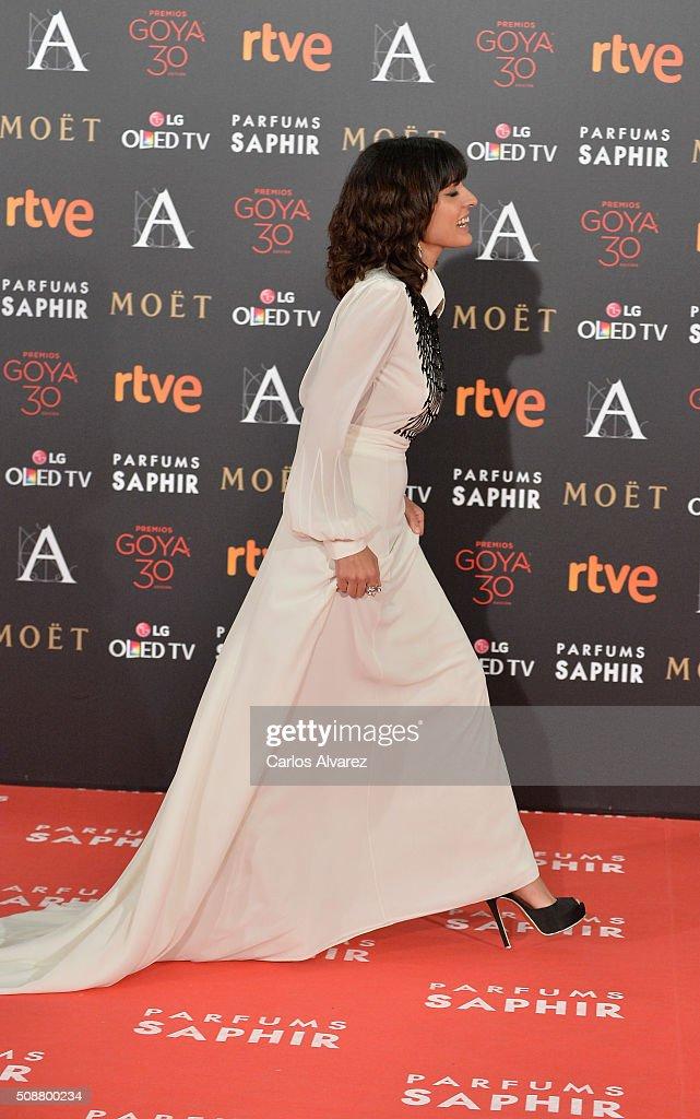 Inma Cuesta attends Goya Cinema Awards 2016 at Madrid Marriott Auditorium on February 6, 2016 in Madrid, Spain.