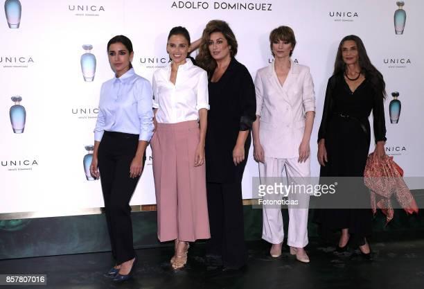 Inma Cuesta Elena Anaya Estrella Morente Najwa Nimri and Angela Molina attend the launch of the new Adolfo Dominguez fragrance at Fundacion Instante...