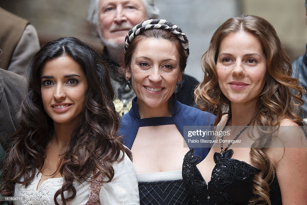 Inma Cuesta, Pepa Aniorte and Miryam Gallego attend 'Aguila Roja' 5th Season presentation on April 30, 2013 in Madrid, Spain.