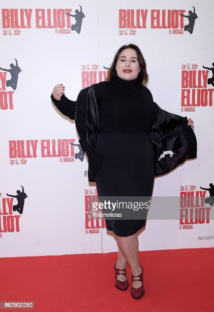 Inma Cuevas attends the 'Billy ElliotEl Musical' premiere at Nuevo Alcala Theater on October 18 2017 in Madrid Spain