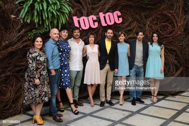 Inma Cuevas Vicente Villanueva Rossy de Palma guest guest Paco Leon Alexandra Jimenez Adrian Lastra and Nuria Herrero present 'Toc Toc' photocall on...