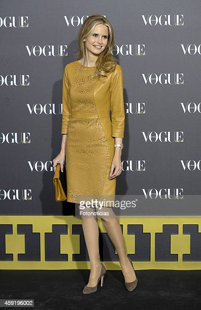 Inma Shara attends the 2014 Vogue Joyas Awards ceremony at the Stock Exchange building on November 18 2014 in Madrid Spain
