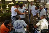 Inmates learn to weave hammocks at the Apanteos prison in Santa Ana 66 km west of San Salvador on July 15 2016 Apanteos is a model prison in the...