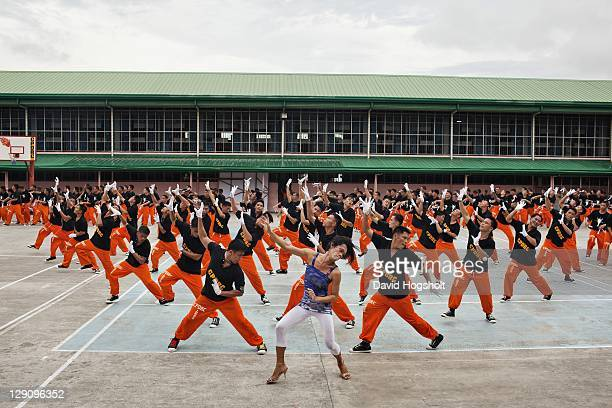 Inmates of the CPDRC prison perform Michael Jackson's Thriller June 26 2010 in Cebu Philippines Byron F Garcia is the man behind the The Ambassadors...