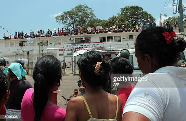 Inmates of the Sabaneta jail in Maracaibo a city in northwesten Venezuela protest against transfers and in demand of security guarantees for visitors...