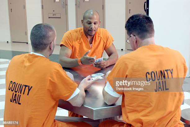 Inmates playing cards