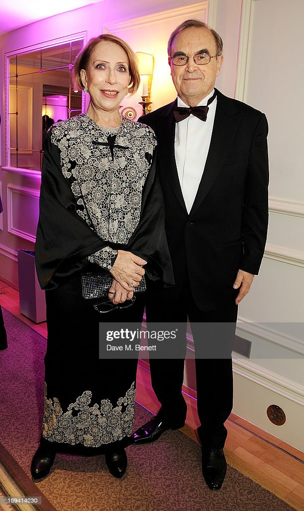 Inna Churikova (L) and Gleb Panfilov attend a gala evening celebrating Old Russian New Year's Eve in aid of the Gift Of Life Foundation at The Savoy Hotel on January 13, 2013 in London, England.