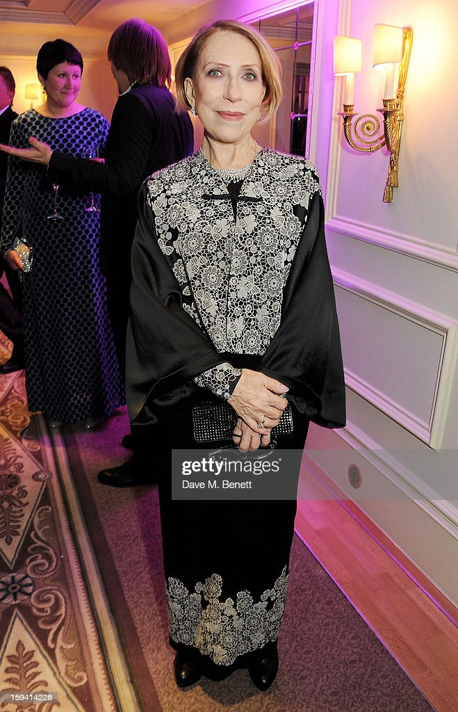 Inna Churikova attends a gala evening celebrating Old Russian New Year's Eve in aid of the Gift Of Life Foundation at The Savoy Hotel on January 13, 2013 in London, England.