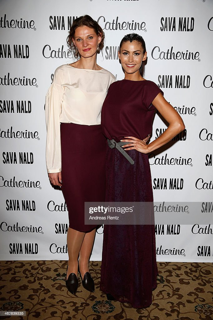 Inna Thomas and Fiona Erdmann attend the Sava Nald show during the Mercedes-Benz Fashion Week Autumn/Winter 2014/15 at Hotel Adlon on January 14, 2014 in Berlin, Germany.