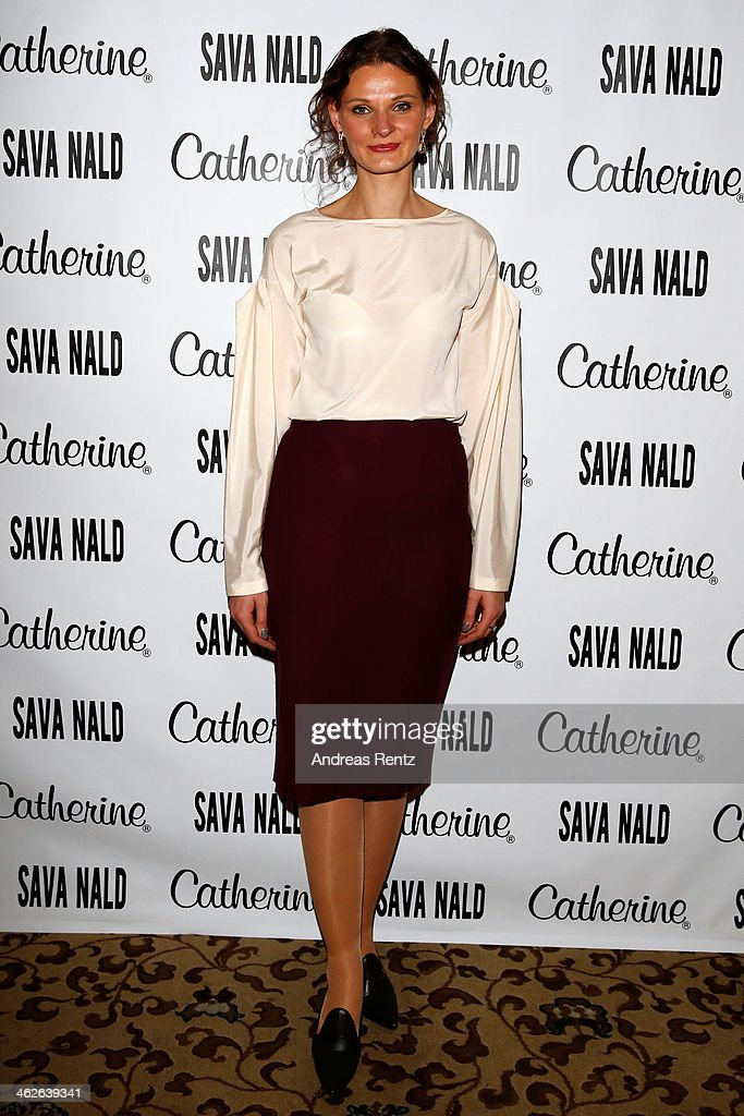 Inna Thomas attends the Sava Nald show during the Mercedes-Benz Fashion Week Autumn/Winter 2014/15 at Hotel Adlon on January 14, 2014 in Berlin, Germany.