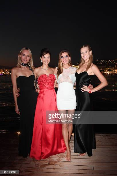 Inna Zobova Patricia Contreras Alina Baikova and Toni Garrn attend the Generous People 5th Anniversary Party during the 70th annual Cannes Film...