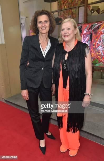 Innegrit Volkhardt and fashion designer Susanne Wiebe during 'Maximilian Seitz EinwicklungenImpressionismusFest im Orient' Exhibition Opening at...