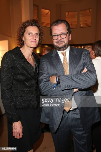 Innegrit Volkhardt owner of hotel Bayerischer Hof and Carl Geisel Geisel hotels and her former brotherinlaw during the 2oth 'Busche Gala' at The...