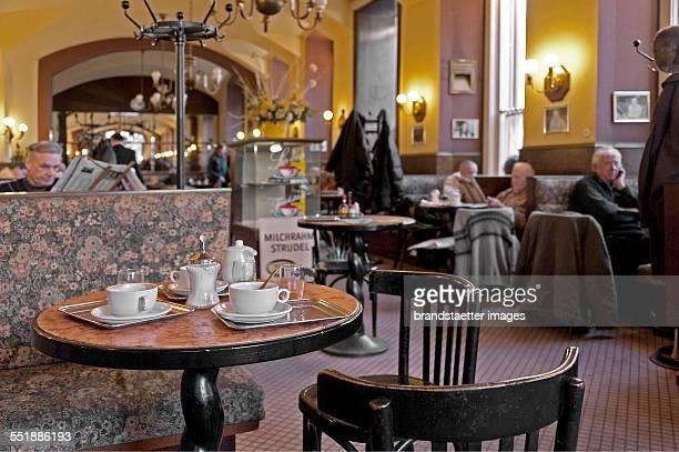Innenansicht des Cafe Eiles Vienna 2013 Photograph by Gerhard Trumler