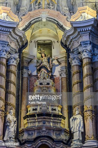 inner altar of the cathedral of Port Clerics : Stock Photo