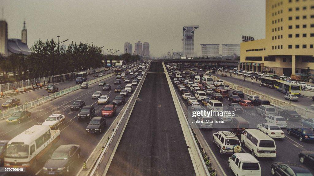 Inner Beijing road : Stock Photo