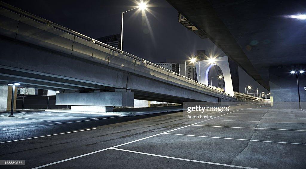 Inner City Carpark at Night