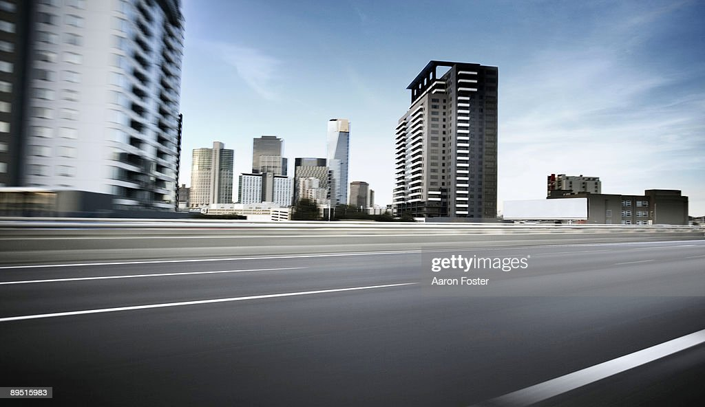 Inner City moving road : Stock Photo