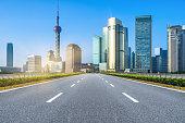inner city road,shanghai,china.