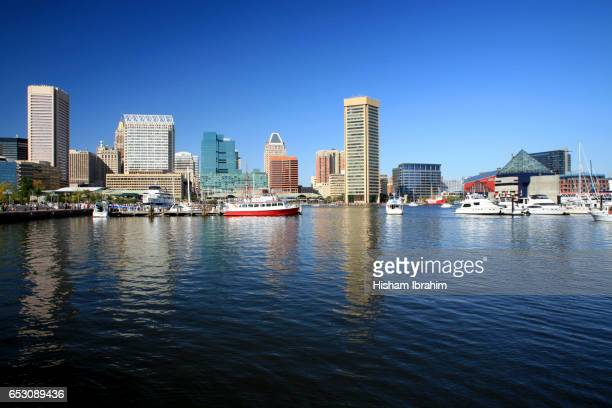 Inner Harbor and Baltimore skyline, Maryland, USA