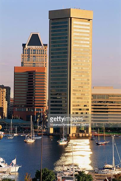 Inner Harbor & Trade Center building, Baltimore, MD