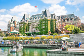 Beautiful view of Inner Harbour of Victoria, British Columbia, Canada.