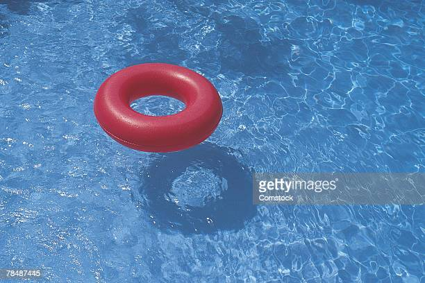 Inner tube in a swimming pool