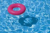 Inner tube in pool