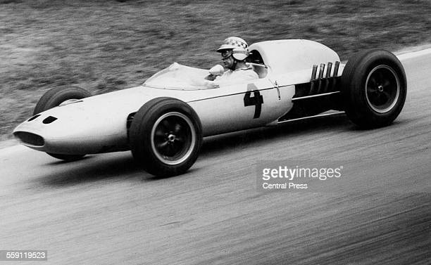 Innes Ireland of Great Britain drives the UDTLaystall Racing Team Lotus 24 BRM during the XIII Crystal Palace Trophy for Formula One cars on11 June...