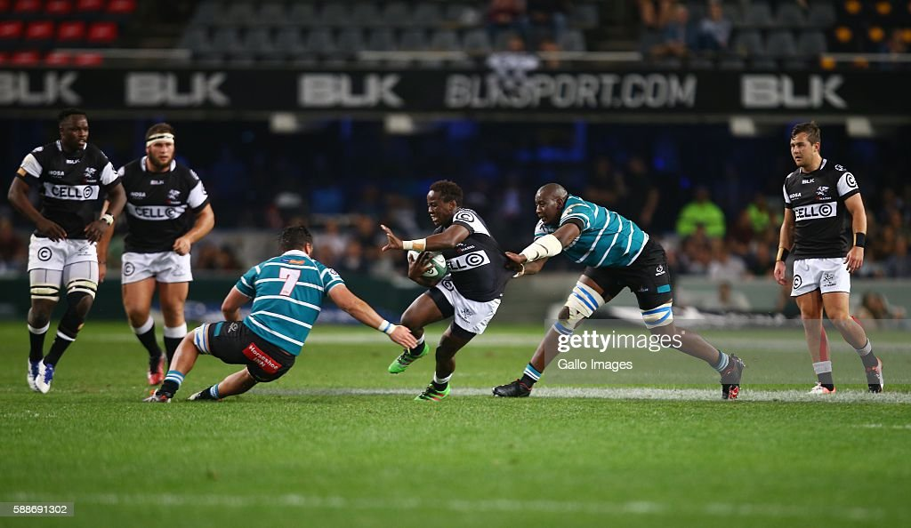 Innocent Radebe of the Cell C Sharks during the Currie Cup match between Cell C Sharks XV and Griquas at Growthpoint Kings Park on August 12 2016 in...