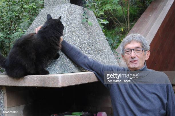Innocente Marcolini poses in his garden at home on October 19 2012 in Brescia Italy In a landmark workplace compensation case the Supreme Court in...