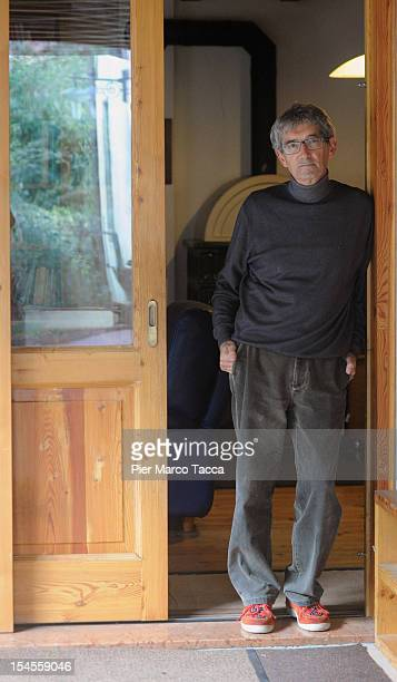 Innocente Marcolini poses in his home on October 19 2012 in Brescia Italy In a landmark workplace compensation case the Supreme Court in Rome has...