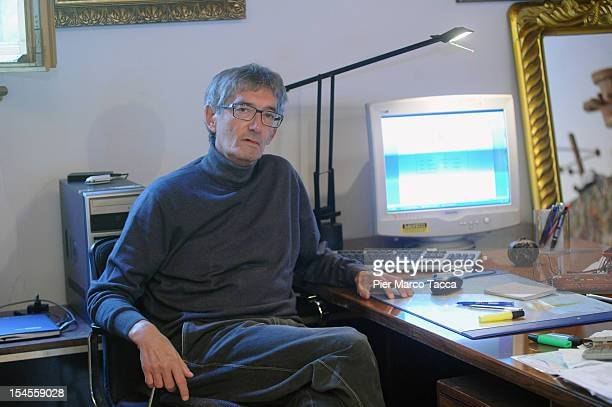 Innocente Marcolini sits at his desk in his home on October 19 2012 in Brescia Italy In a landmark workplace compensation case the Supreme Court in...