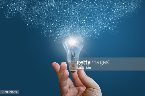 Innovative idea in businessman hand. : Stock Photo