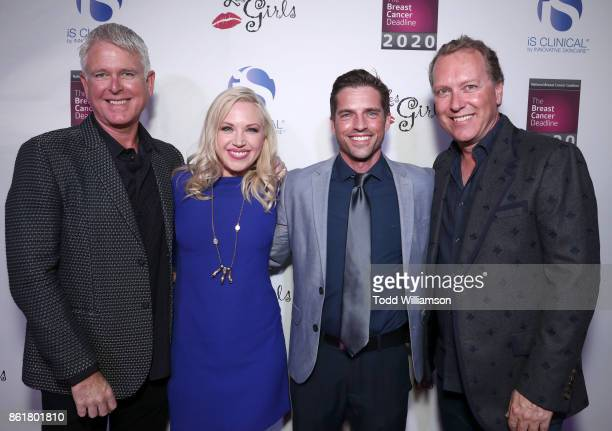 Innovative Skincare President/Ceo Bryan Johns Adrienne Frantz Scott Bailey and Innovative Skincare COO Alec Call attend National Breast Cancer...