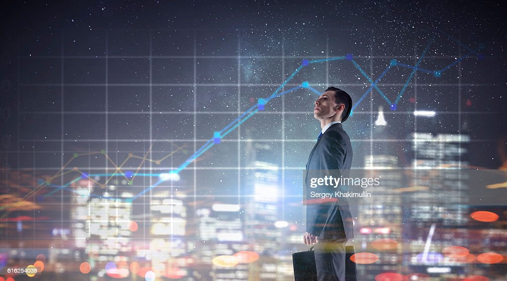Innovative technologies for business . Mixed media : Stock Photo