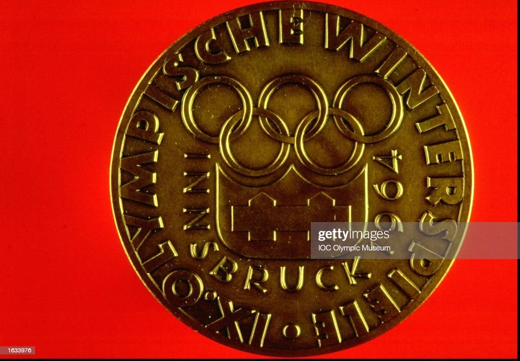 Innsbruck Winter Olympic Games Commemorative Medal. The medal is in the IOC, Olympic Museum in Lausanne, Switzerland. \ Mandatory Credit: IOC, Olympic Museum /Allsport